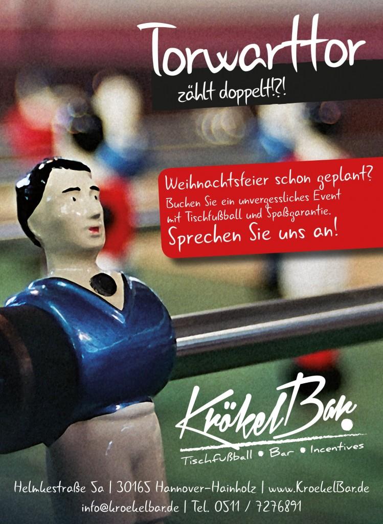 Kroekelbar Weihnachtsfeier Hannover Tischfußball Event